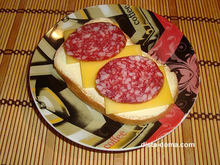 Картинки бутербродов с колбасой и сыром