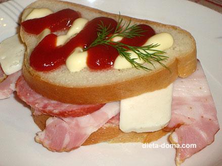 Бутерброд с сервелатом калорийность 2