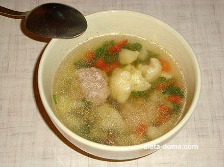 Простой овощной суп диетический